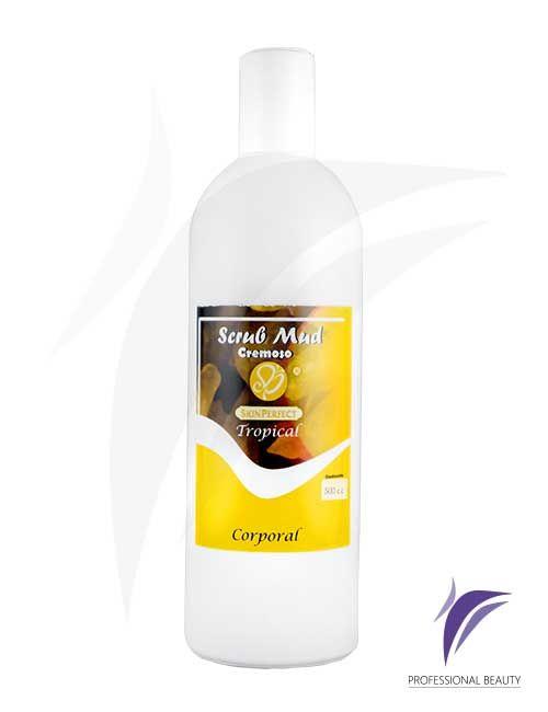 Scrub Mud Cremoso Tropical 500cc: Exfoliantes cremosos con extractos tropicales que eliminan células muertas y aportan suavidad a la piel preparándola para una mejor absorción de otros productos.