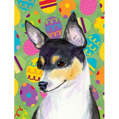 Caroline's Treasures Chihuahua Easter Eggtravaganza 2-Sided Garden Flag