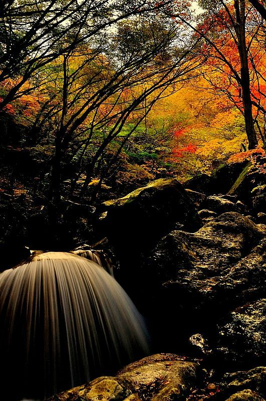 Mikaduki Falls, Tamura, Fukushima, Japan