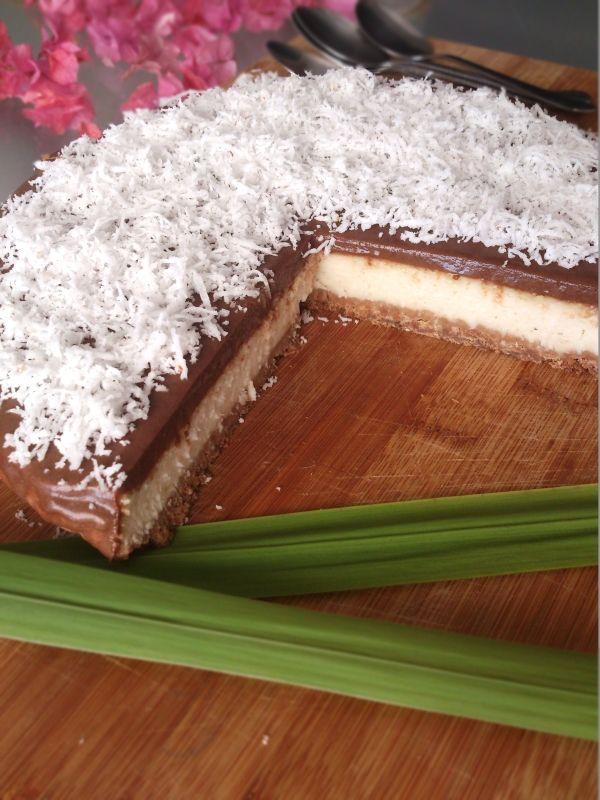 No Cheesecake au chocolat et noix de coco (au tofu soyeux)  par Geek&Balsamique