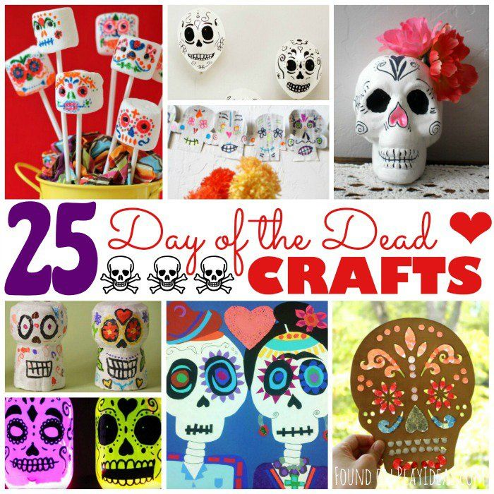 Teach your kids about Mexican culture with these fun and beautiful crafts! Day of the Dead (Día de los Muertos) is celebrated on November 1st every year, and has been rolled into Halloween celebrations everywhere. This year, make these super fun 25 Day of the Dead Crafts for Kids (with tons of sugar skull crafts in there for anyone who loves Mexican folk art!) and teach your kids about this holiday, as well as their own ancestors who have passed. Have fun! 25 Day of the Dead Crafts for Kids…