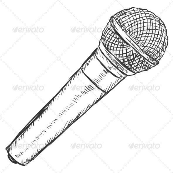 Dynamic Microphone Sketch Microphone Tattoo Microphone Drawing Microphone