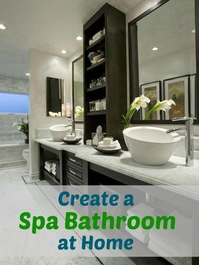 Very simple tips for creating a spa bathroom at home. These tips gave me the push I needed to finally get my bathroom in order!