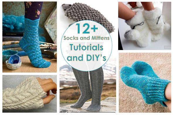 Рукодельный обзор: Носки и варежки | New Tutorials and DIY's to Try: Socks and Mittens