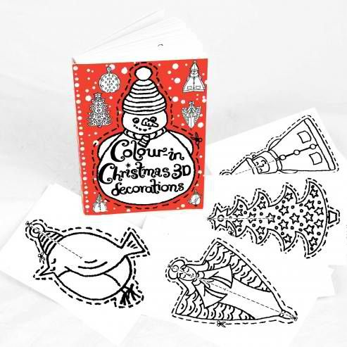 Eggnogg Colour-in 3D Christmas Decorations $12.95  www.pennyfarthingkids.com.au #pennyfarthingkids #kids #babies #craft #fun #parties #eggnogg