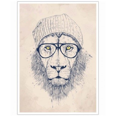 Cool lion as Art Print by Balázs Solti | Art. Everywhere.