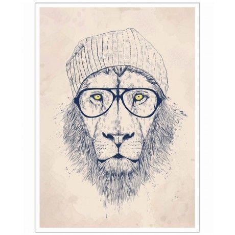 Cool lion as Art Print by Balázs Solti | Art. Everywhere.