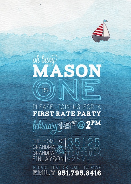 emily camp design- design fancy: Nautical Birthday Invitation DIY