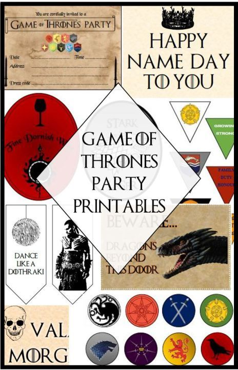 Game of Thrones Party Guide - tips and ideas for hosting your very own - FREE printables to decorate