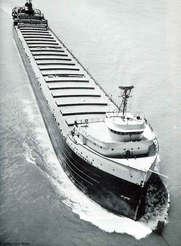 Nov. 10, 1975. The ore ship Edmund Fitzgerald and a crew of 29 is lost in a storm on Lake Superior.