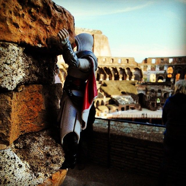 Just going for a quick race round the top #Colosseum #Rome #Italy #Nostalgia #ClimbAllTheThings