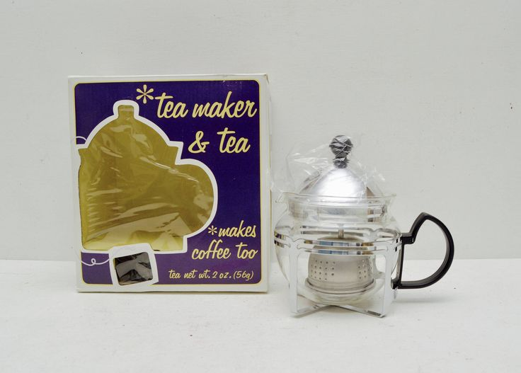 Vintage Glass #Teapot Coffee and/or Loose Leaf #Tea #Infuser; European Farmhouse #1970s at #RuthHannas