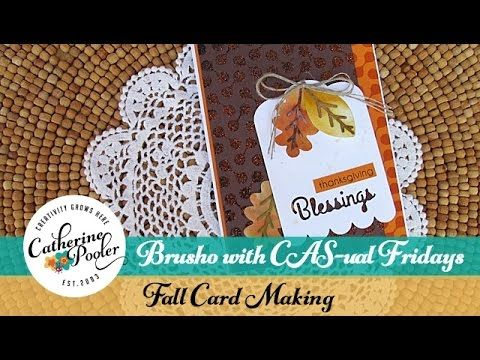 Brusho with CAS-ual Fridays Fall Card Making - YouTube