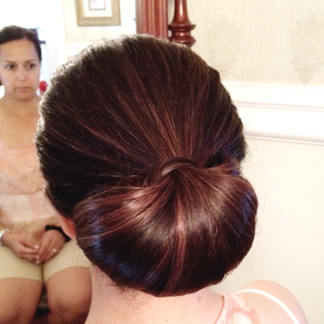 Classic Chignon Wedding Hairstyles: Simple But Classic Chignon. Hair Styled By Me. :) Www