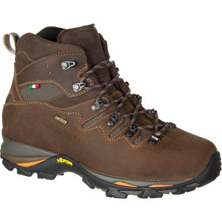 You want a boot that can handle seasons of full day hikes and weekend backpacking trips. The Zamberlan Men's Gear GTX Hiking Boot happily handles rough trails and your fairly light backpack loads. Its Gore-Tex Performance Comfort membrane gives this boot guaranteed waterproof protection that remains highly breathable so your foot stays dry and comfortable whether the day is rainy and cold or sunny and hot. While the upper's Hydrobloc Perwanger waxed suede adds weather resistance and ...