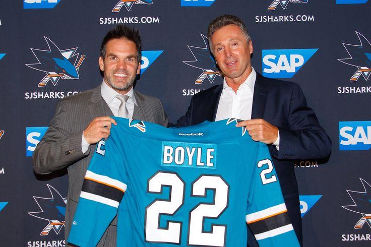 Dan Boyle's retirement announcement - Boyle and Doug Wilson