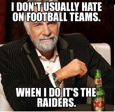 Football Funny! Hating on the raiders! Ha!