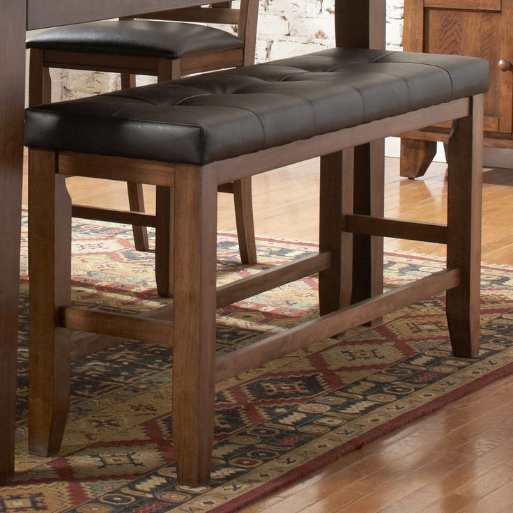 Tribecca Home Kai Oak Brown Casual 24 Inch Backless Counter Height Bench