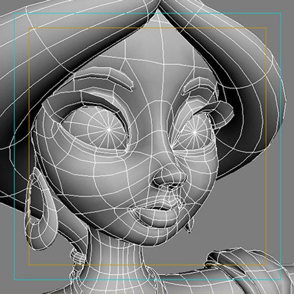 Maya Model: Jasmine/Face