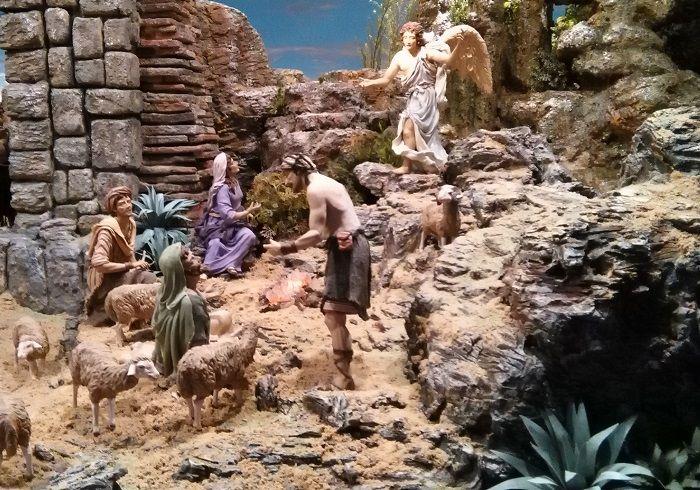 Anunciación a los pastores. 40 cm. - Juan Miguel de la RosaJuan Miguel de la Rosa