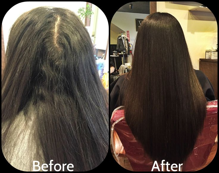 YUKO Hair Straightening new growth.Tired of frizzy unmaneagable hair? ask your hairstylist today if YUKO Hair Straightening is right for you!  #hair #yukohairstraightening #japanesehairstraightening #striaghthair #beforeandafter #hairsalon #straight