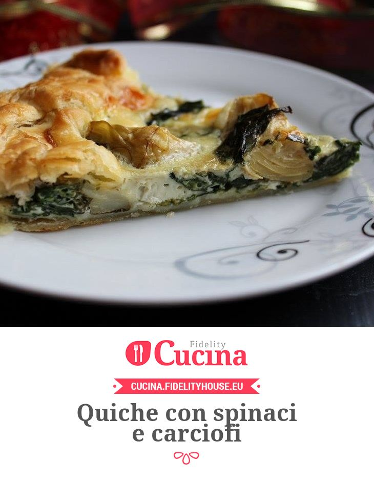 Quiche con spinaci e carciofi