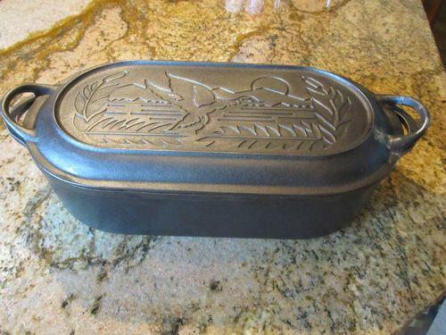 vintage black cast iron large sportsman duck fish fryer with embossed duck ebay