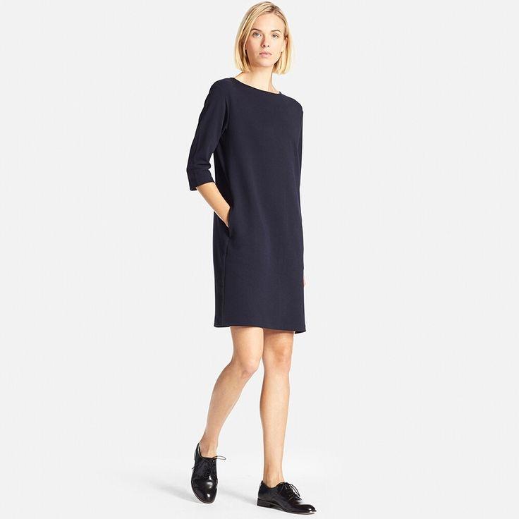 WOMEN Milano Ribbed 3/4 Sleeve Dress