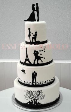 Shadow Story Wedding Cake - Cake by Essência do Bolo. Absolutley beautiful