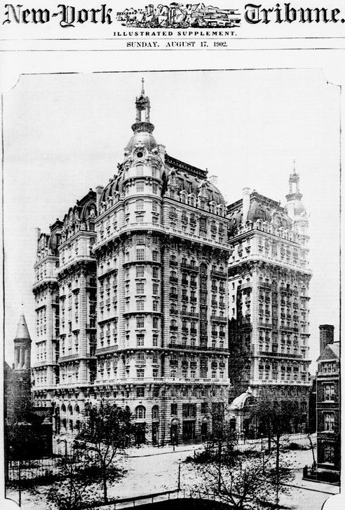 The Ansonia Hotel in New York had a rooftop farm complete with ducks, chickens, and dairy cows in 1904.