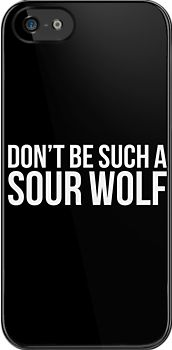 """Sour Wolf (v2)"" iPhone & iPod Cases"