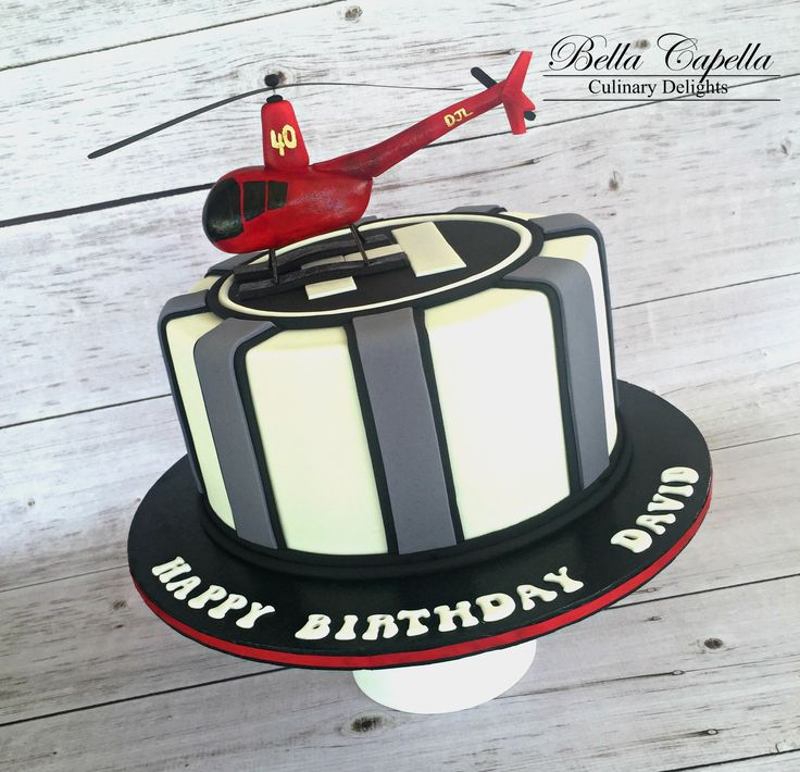 Helicopter Cake by cake artist Jennifer Beckham at Bella Capella Culinary Delights in Queenslands Central Highlands. Contact: bellacapella@bigpond.com www.facebook.com/BellaCapellaCulinaryDelights