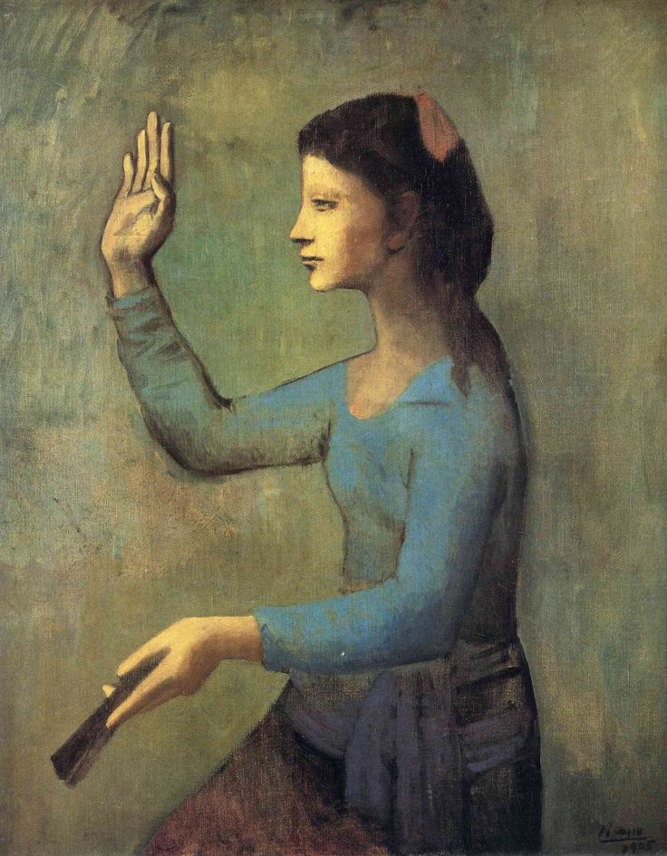 pablopicasso-art:Woman with a Fan, 1905Pablo Picasso