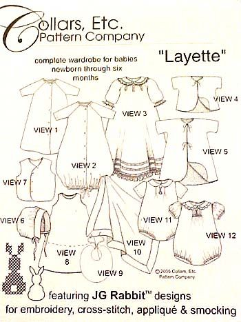 """""""Layette"""" Pattern by Collars, Etc."""