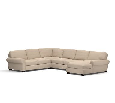 Best Turner Roll Arm Upholstered Left Arm 4 Piece Chaise 640 x 480