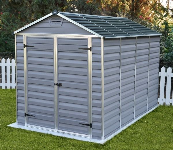 palram skylight anthracite polycarbonate shed 6x12