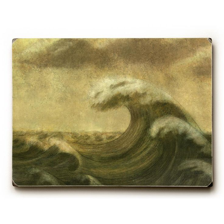 """9 in. x 12 in. """"The Wave"""" by Terry Fan """"Solid Wood"""" Wall Art"""