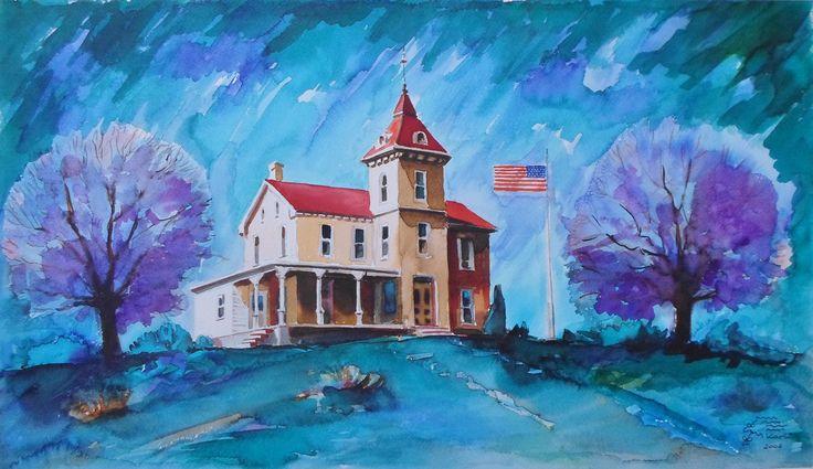 Greencastle ,Pennsylvania,USA Akvarell 60x38cm       2006