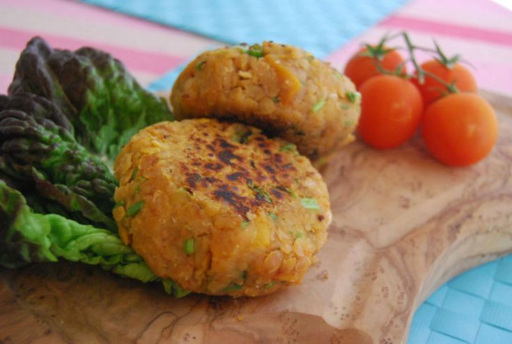 Red Lentil and Butternut Squash Burgers [Vegan, Gluten-Free]   This sounds like the perfect Fall burger. Hearty and delicious :)