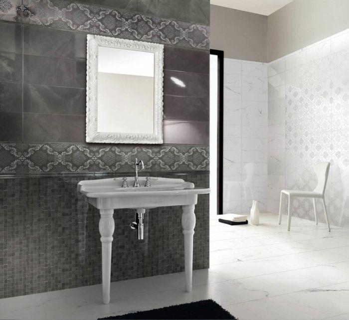 25+ parasta ideaa Pinterestissä Bilder für badezimmer Bilder - badezimmer fliesen grau