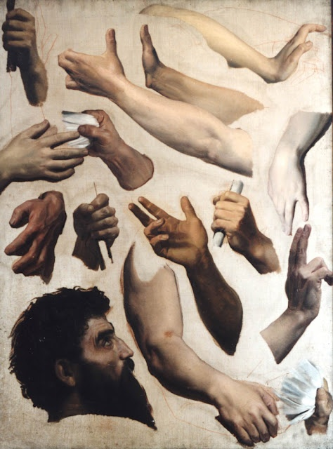 Hand studies by Bouguereau.  I freakin love Bouguereau.