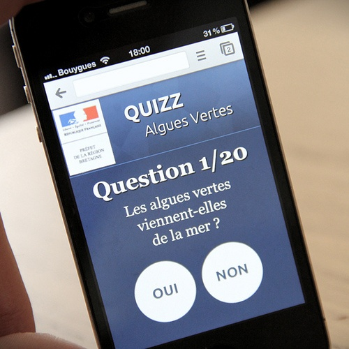 Préfecture de Bretagne // Quiz Algues vertes #WebDesign  #Développement #WebMobile #iPhone