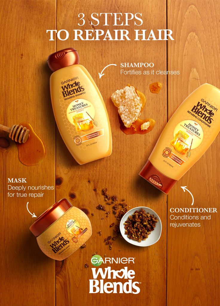 Want to repair your hair? Then Find Your Blend and nourish your strands. Garnier Whole Blends Repairing Honey Treasures Haircare is carefully crafted with Honey, Royal Jelly and Propolis extracts to rejuvenate and repair hair. Plus, give your strands a little extra TLC with the Repairing Mask. Discover Honey Treasures Now.