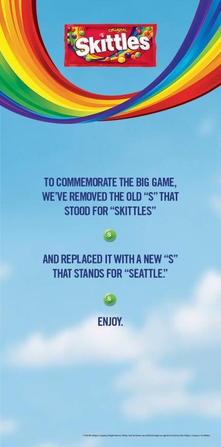 Skittles: Replaced the S in Skittles http://adsoftheworld.com/media/print/skittles_replaced_the_s_in_skittles