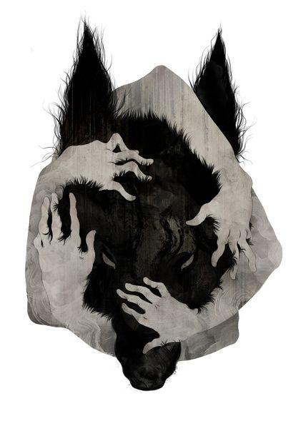 Wild Dog Art Print by Corinne Reid