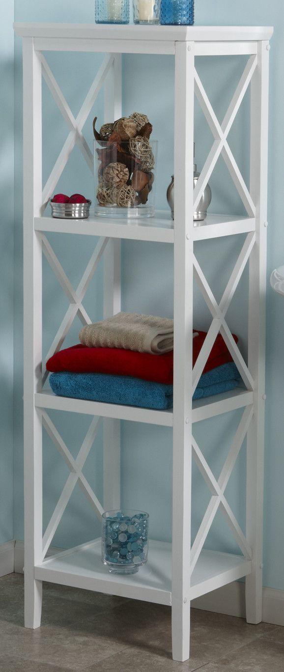 """X-Frame 18"""" W x 54"""" H Bathroom Shelf"""