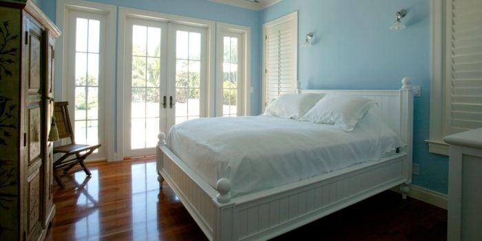 17 beste idee n over blauw witte slaapkamers op pinterest marineblauwe slaapkamers wit - Kleur slaapkamer bebe ...