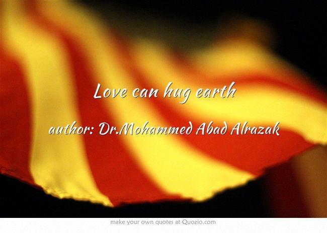 Love can hug earth