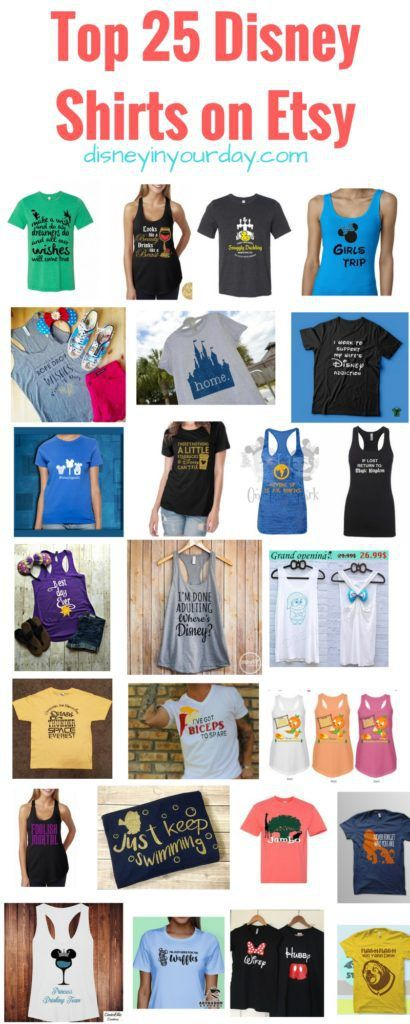 Top 25 Disney Shirts on Etsy - some of the best homemade Disney shirt options on Etsy!