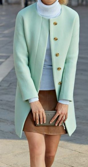 This mint coat is so amazing it almost makes me wish for winter, almost, but not quite.